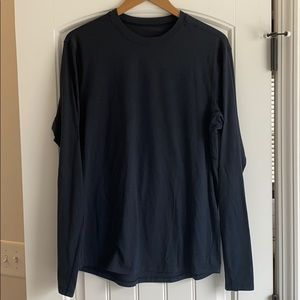 Men's Lululemon Long Sleeve Shirt - Dark Blue/Navy